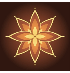 Mandala Decorative flower vector image
