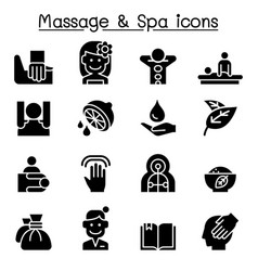 massage spa icon set vector image