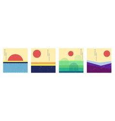 minimalist landscape set vector image