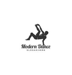 modern dance vector image