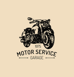 Motor service advertising poster hand vector