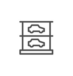 multilevel parking icon vector image