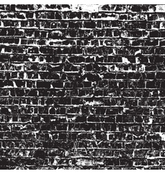 Old black bricks vector