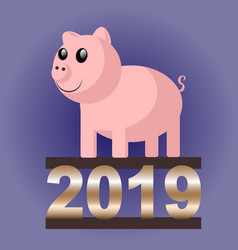 pig 2019 vector image