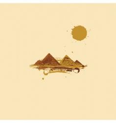 Pyramid in desert vector