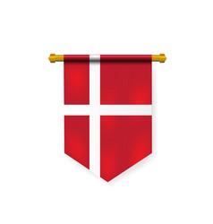Realistic national denmark flag for design element vector
