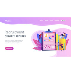Recruitment agency concept landing page vector