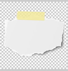 rectangular torn piece of paper with soft shadow vector image
