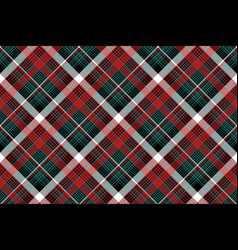 Red green check plaid seamless background vector