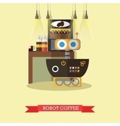 Robot coffee flat design vector
