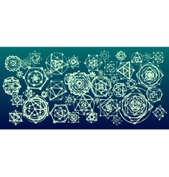Sacred geometry mandalas background vector