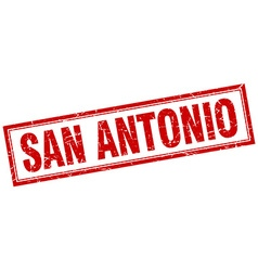San Antonio red square grunge stamp on white vector