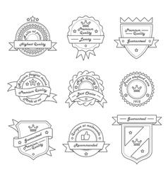 set monochrome label logo and badge vector image
