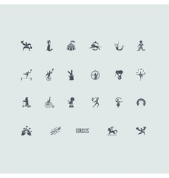 Set of circus icons vector image