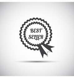 Simple best seller ribbon icon modern vector image