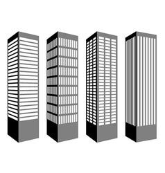 Skyscraper symbols vector