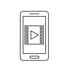 smartphone player movie video technology online vector image