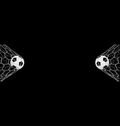 Soccer or football banner with 3d ball on black vector
