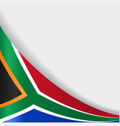 south african flag background vector image