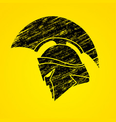Spartan warrior helmet weapon head roman fighter vector