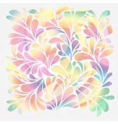 Splash of floral and ornamental drops background vector image