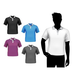 T-shirts male polo set vector image