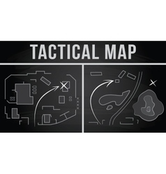 Tactical map of the fighting vector