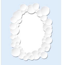 The frame of the circles vector image