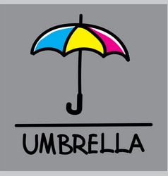 Umbrella hand-drawn style vector
