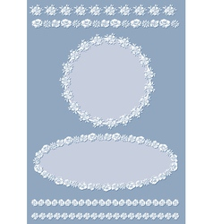 vintage border and frame set vector image