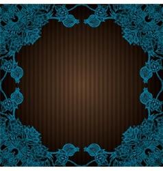 vintage flourish doodle frame vector image
