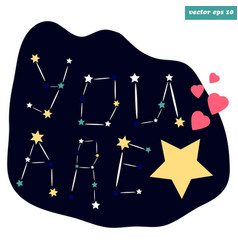 You are the star sign vector