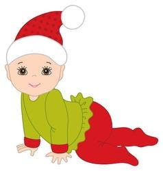 Christmas Baby vector image