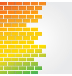 Colorful brick background vector image vector image