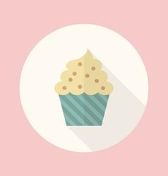 Cupcake flat icon vector image