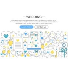 elegant thin flat line Wedding concept vector image vector image