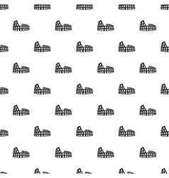 Roman Colosseum pattern simple style vector image