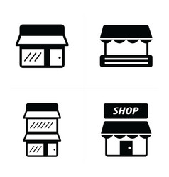 Store icons set vector