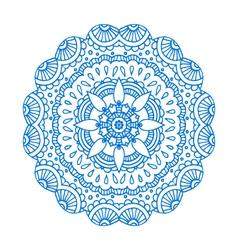 blue doodle paisley mandala hand drawn pr vector image vector image