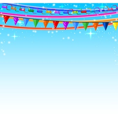 Colorful lace pins chains garlands vector image