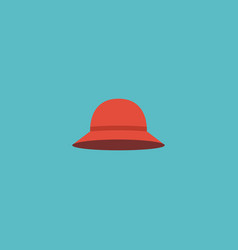 flat icon woman hat element vector image
