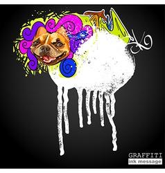 Graffiti ink frame vector image vector image