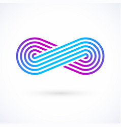 infinity symbol five lines limitless icon logo vector image