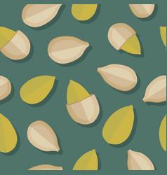 pumkin seeds seamless pattern vector image vector image
