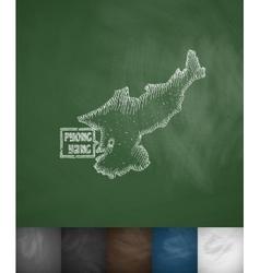 Pyong Yang map icon Hand drawn vector image vector image
