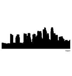 Singapore skyline vector image vector image