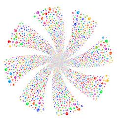 skull fireworks swirl flower vector image vector image