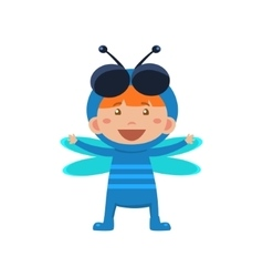 Child Wearing Costume of Fly vector image