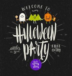 Halloween hand drawn vector image vector image