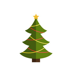 traditional christmas tree on vector image